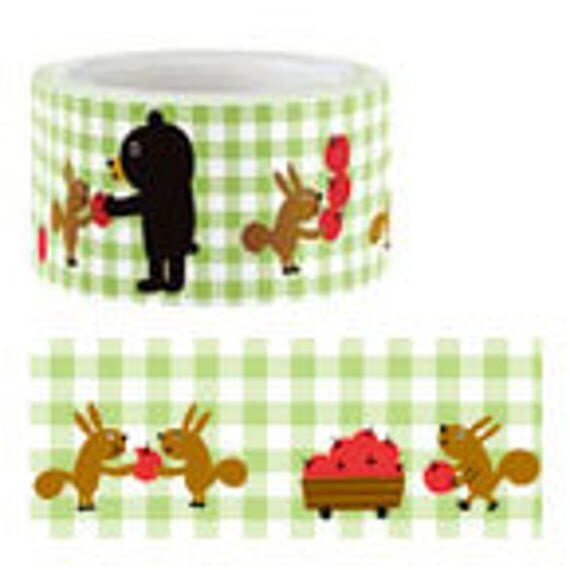 Funtape Masking Tape - Bear & Squirrel - 25mm Wide