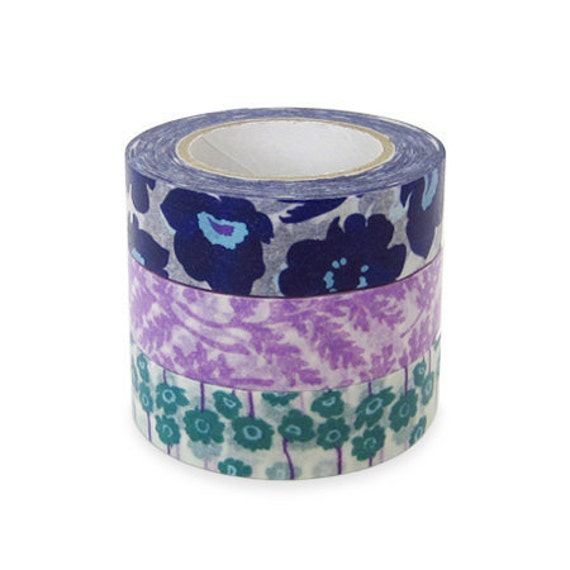 Colte Washi Masking Tape - Poppy Purple - Set 3 - Discontinued