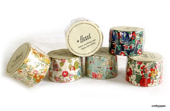 liberty of london fabric masking tape set of 2. Black Bedroom Furniture Sets. Home Design Ideas