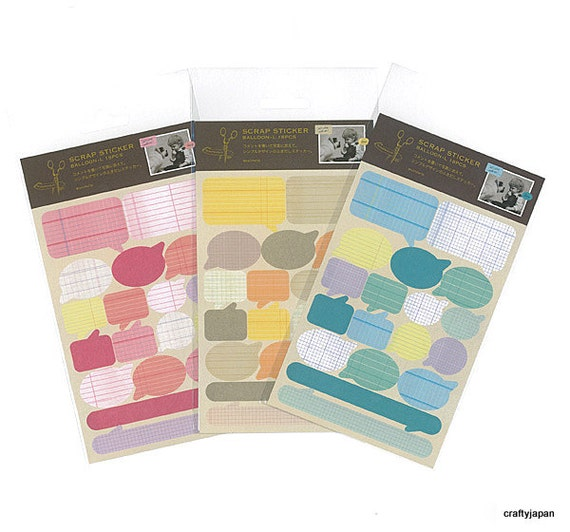 Mark's Scrapbooking Stickers - Speech Bubbles - Large