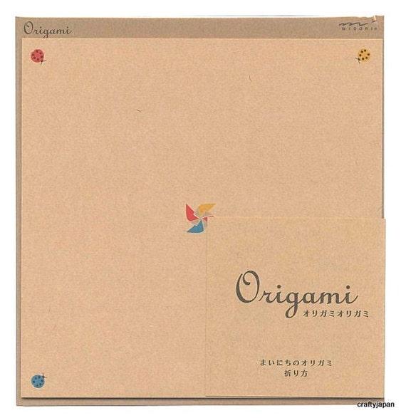 Japanese Origami Paper 15cm (6 inches) - Ladybug Pinwheels