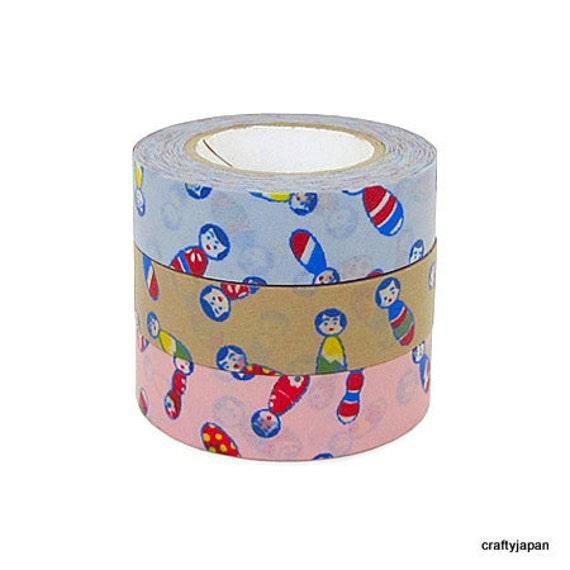 Classiky Japanese Washi Masking Tape - Kokeshi - Set 3
