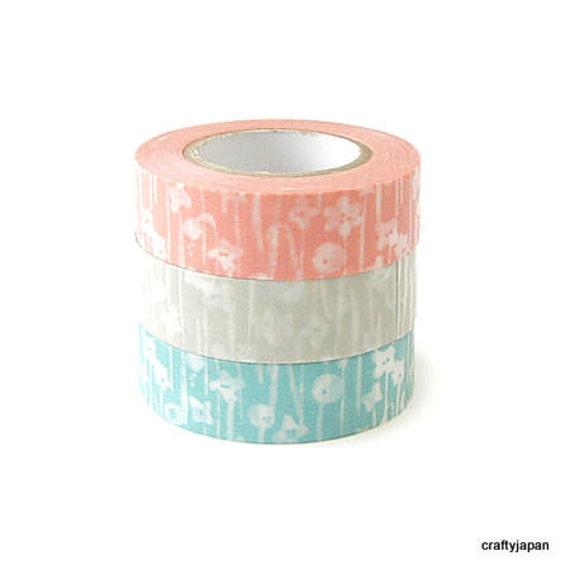 Classiky Washi Masking Tape - Small Flowers - Set 3