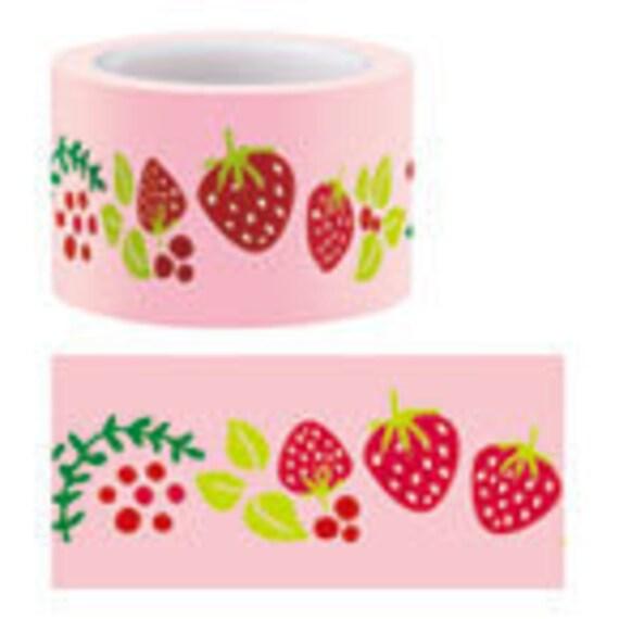 Funtape Masking Tape - Strawberries & Butterflies - 30mm Wide