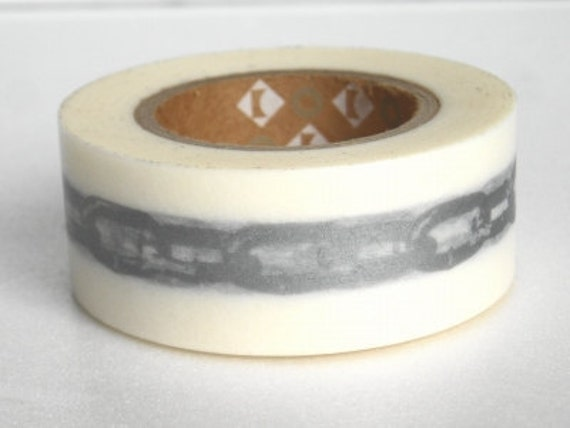 mt Washi Masking Tape - Wide Silver Chain - Limited Edition