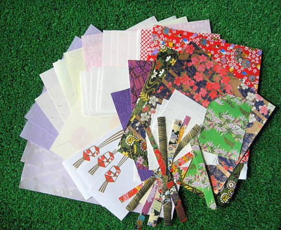 Japanese Yuzen Washi Paper - Chiyogami Sample Pack - 41 sheets