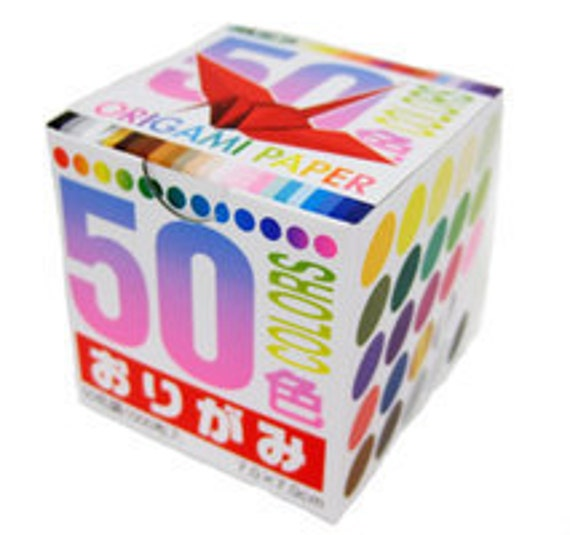 Japanese Origami Paper - 50 colours - 7cm sheets (2.8 inches)
