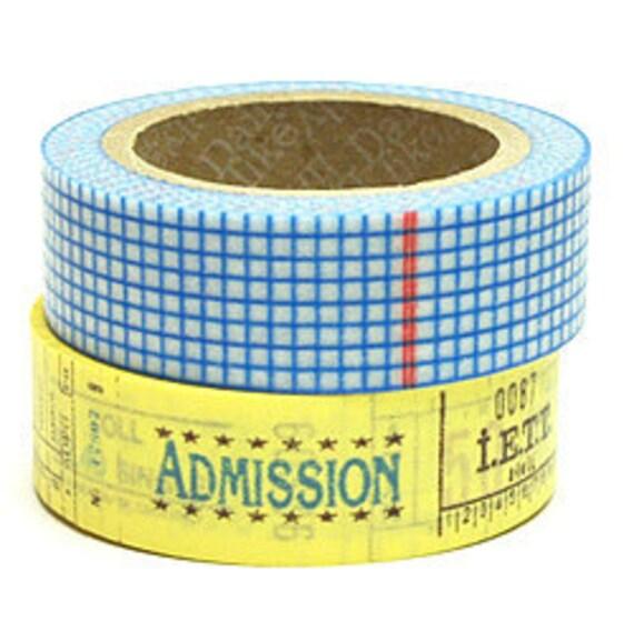 SALE - Decollections Masking Tape - Grid & Ticket - Set 2 - Elin - 25% off