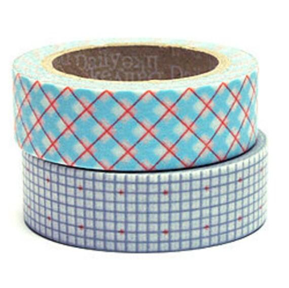 Decollections Masking Tape - Checks & Grid - Set 2 - Wash