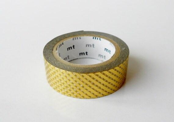 mt Washi Masking Tape - Gold Lattice - Limited Edition