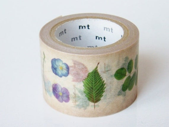 mt Washi Masking Tape - Pressed Flowers & Leaves - Limited Edition