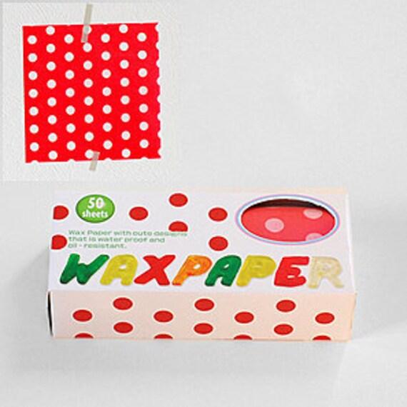 Season Wax Paper - Red Polka Dots - Regular