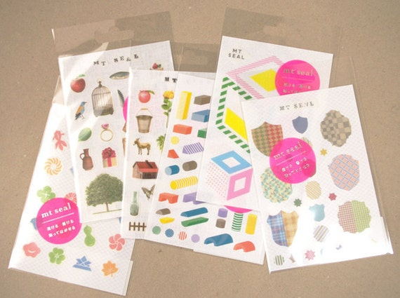mt Seal Washi Stickers - Animals, Food & Japanese Motifs - Choose from 3 designs