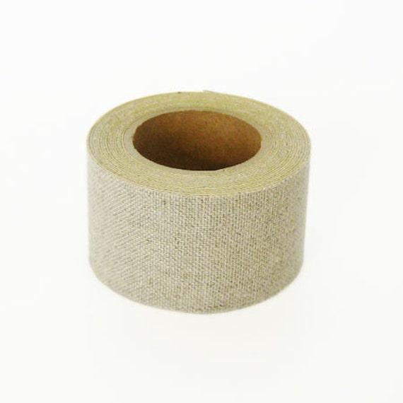 Kurashiki Linen Fabric Masking Tape - Natural Beige - 30mm Wide