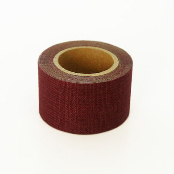 Classiky Linen Fabric Masking Tape - Rouge - 30mm Wide