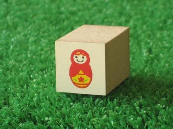 Matryoshka Doll Rubber Stamp - Kawaii Japanese Zakka