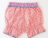 Pink Ballerina Fortune Cookie Bloomers, 6-12 mos