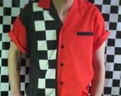 Mens Rockabilly Hot Rod Short Sleeve Shirt