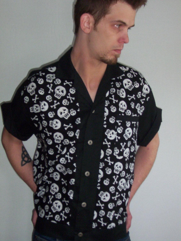 s rockabilly shirt jac skulls