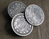 buttons made out of an antique coins... to use in your art home decor assemblage photo prop Apr 24