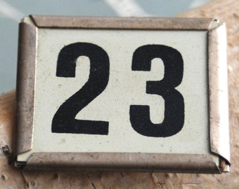 magic number 23 or 6 or 9... vintage number for altered jewelry books albums mixed media assemblage Necklaces and  findings  FT 17