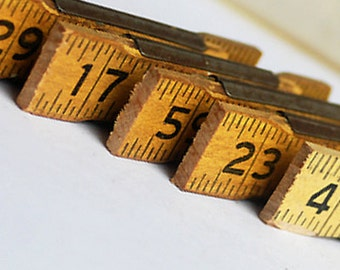 5 vintage ruler cuts, just in case you could use them, coolvintage, wooden ruler, unique, Jan 10