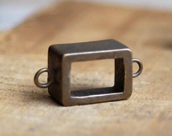bronze bezel for a  Pendant....   to use in your ASSEMBLAGE mixed media JEWELRY or in any way you would want to  X