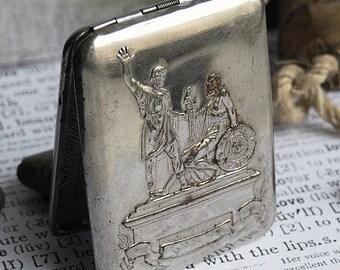 SALE...  vintage metal cigarette case, home decor, accessories, coolvintage, ornate cigarette case, looks great, metal box, Mar 10