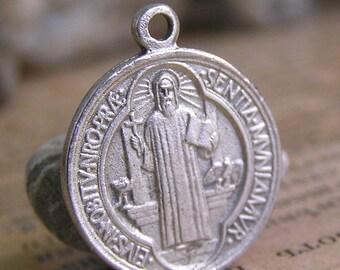 vintage religious tiny pendant...  X 742