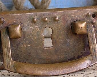 vintage  escutcheon...   key hole plate    Aug 04