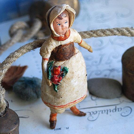 RARE collectible antique spun cotton c. 1950 Russian ornament...  May 10
