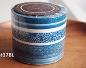 Super cute masking tape blue frame. For craft projects, scrapbooking, packing, gift wrapping. Set of 3.