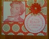 Set of 4 Handmade Coffee Cards