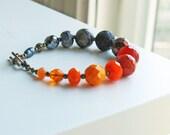 Orange and Black Bracelet Color Block
