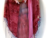Fuchsia Shawl with Swarovski crystals & beads