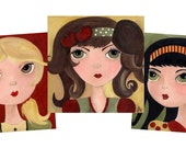 The Candy Apple Brigade Carnival Girls Whimsical Print Set by The Peppermint Forest