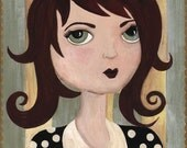 Miette Whimsical Folk Art Print by The Peppermint Forest