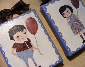 Pete & Pippa Whimsical Folk Art Paintings