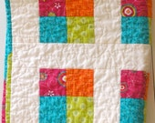Bright Floating 4-Patch Doll Quilt