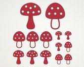 Toadstool Wall Decals Woodland Mushroom Nursery Kids