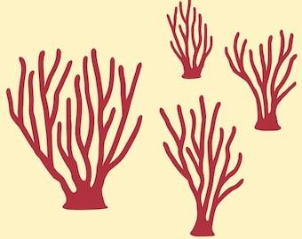 Ocean Sea Coral Wall Decals Kids Underwater Nursery Baby