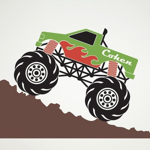Monster Truck Vinyl Wall Art Decal Sticker
