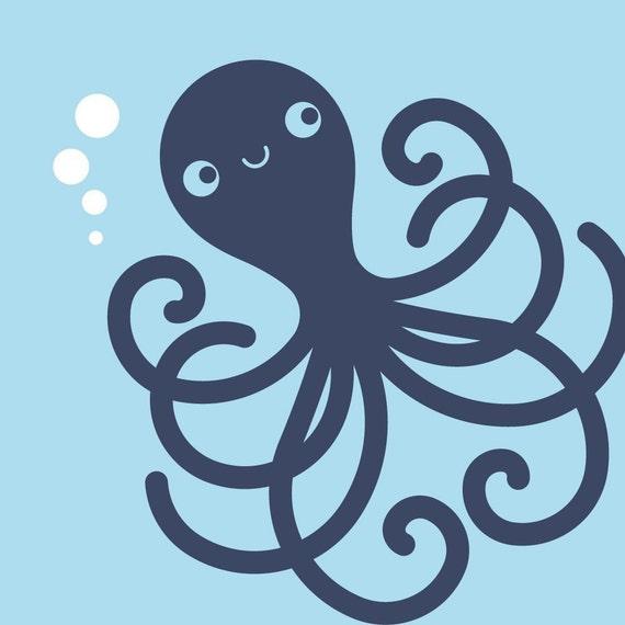 Ocean Nursery Octopus Wall Decal Kids Underwater Decor