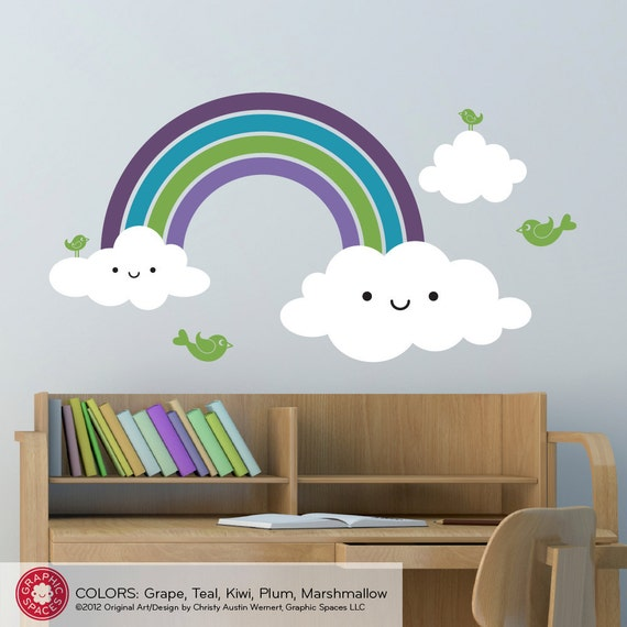 Happy Rainbow Wall Decal