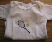 Baby Onesie with Tennis Ball and Racquet