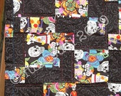 Dia de los Muertos Lap Quilt - hold for Crystal