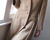 RESERVED FOR BritinaBeret Wool three quarter length Camel coat