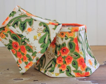 Sconce Lamp Shade Lampshade Chandelier Small Orange Vintage Floral