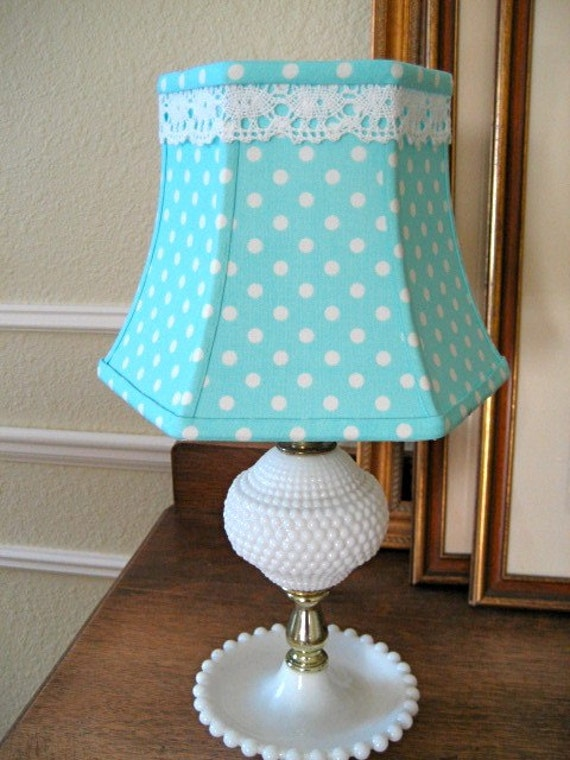 RESERVED for Nancy -SALE - Sweet Polka Dot Lampshade