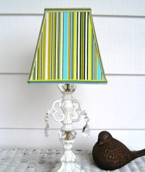 Silly For Stripes Square Lampshade